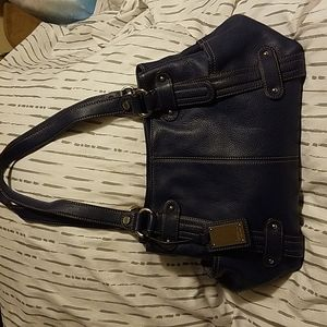 Tignanello Navy Blue Tote Bag w/ Side Pockets